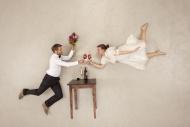 Hapy couple celebrating engag...