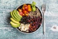 Lunch bowl of quinoa tricolor...