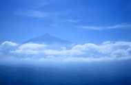 Volcano Teide over the clouds...