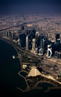 Aerial view of Doha, Middle E...