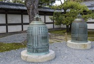Two large temple gongs or bel...