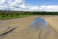 The Taw Estuary and the villa...