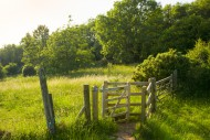 A kissing gate on the West Me...