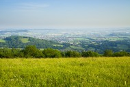 View the Mendip Hills over Wo...