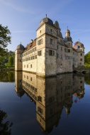 Germany, Kronach, moated cast...