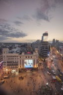 Spain, Madrid, cityscape with...