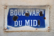 Road sign in southern France,...