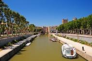 Canal du Midi, Narbonne, Aude...