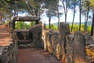 Tomb, Dolmen des Fades, in Pe...