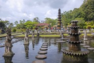 Ponds and fountains at Tirta ...
