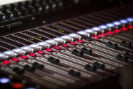 Console of sound, mixing of c...