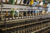 Colourful bobbins with yarns ...