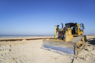 Bulldozer used for sand reple...