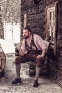Bavarian man with leather pan...