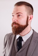 Businessman with beard and suit