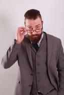 Businessman with beard, suit ...
