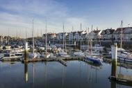 Sailing boats at the marina a...