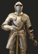 Suit of Armor on Black Backgr...