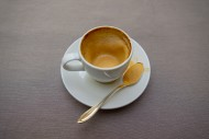 Empty Cappuccino Coffee Cup