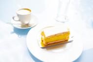 Lemon Cake and Cappuccino Cof...