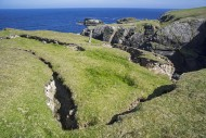 Coastal erosion showing huge ...