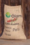Coffee bag with raw coffee be...