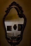 Mirror Image in a Retro Room.