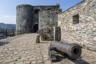 Old cannon at entrance gate o...
