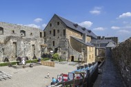 Courtyard in the medieval Ch�...