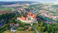Castle Harburg, above the W�r...