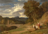 An Italianate Landscape, John...