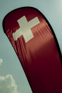 Swiss Banner Flag with Sunlig...
