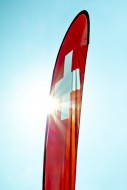 Swiss Banner Flag with Sunbea...