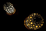 Illuminated Lamps at Night in...