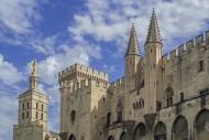 14th century Palais des Papes...