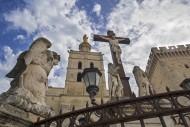 Sculptures of angels, crucifi...