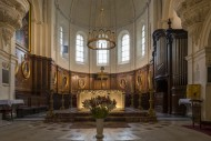 Altar and church organ of the...