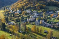 Aerial view over the village ...