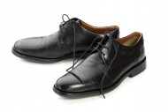 Pair black leather formal men...