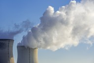 Two cooling towers of nuclear...