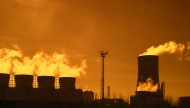 Industrial estate at sunset s...