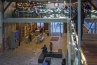 Entrance, book shop and resta...