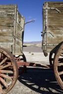 Death Valley scene framed by ...