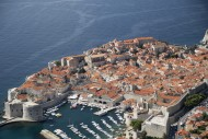 Old walled city of Dubrovnik,...