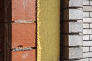 Close up of cavity wall insul...
