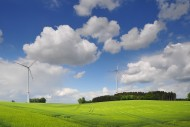 Wind turbines east of Augsbur...