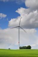Wind turbine east of Augsburg...