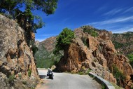 Motorcyclist on the pass road...