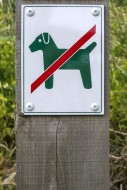 Prohibition sign no dogs allowed