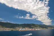View of Bastia and the harbor...